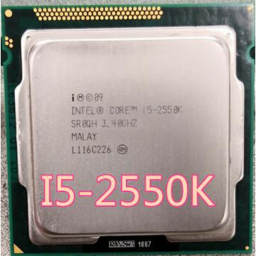lntel i5 2550K I5-2550K Quad Core 3.4GHz Socket LGA 1155 6MB Cache TDP 95W Processor 2500K