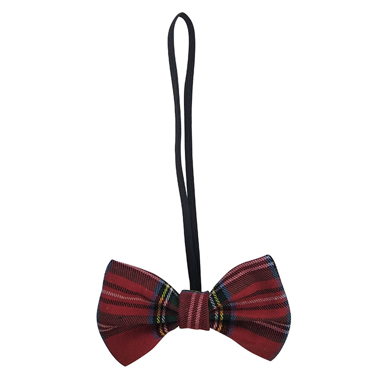 Christmas small cat bow tie plaid