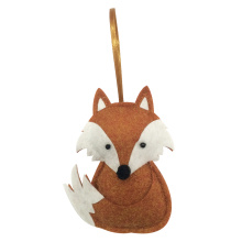 Cute fox ornaments with winter woodland style
