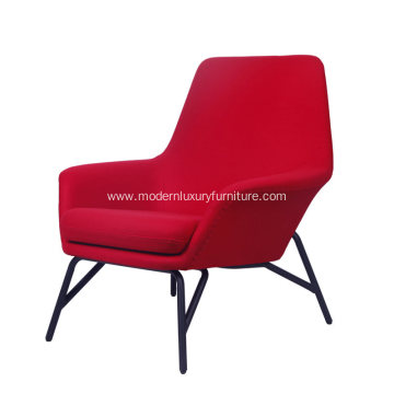 Minotti Prince Armchair in Red Fabric