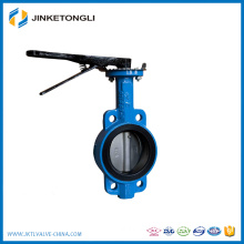 Trade Assurance full size Manual-Operated with Handle/Worm gear wafer type butterfly valve DN80
