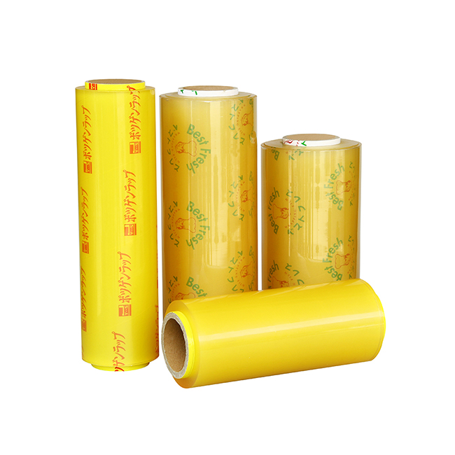 Food grade transparent plastic wrap pvc cling film