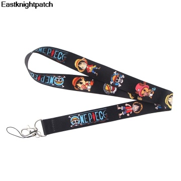 Anime black Lanyard Badge ID Lanyards/ Mobile Phone Rope/ Key Lanyard Neck Straps Accessories for man E0975