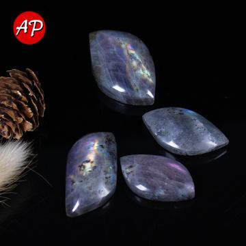 1PC Natural Leaf Shape Labrodite Crystal Purple Shine Moonstone Polished Gemstone Healthy Quartz for making Necklace
