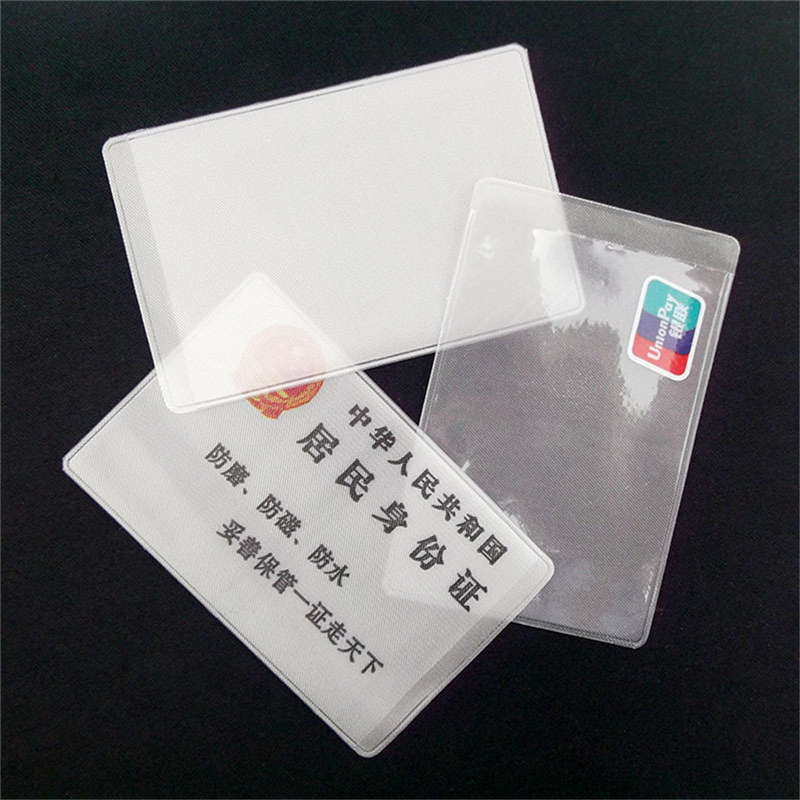 10Pcs 9.6*6cm Transparent Frosted PVC Business ID Cards Note Covers Holder Cases Travel Ticket Holders Waterproof Protect Bags