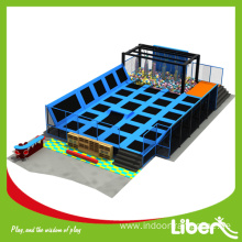 Outdoor gymnastic trampoline with covers
