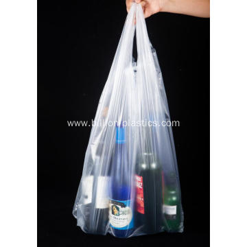 Clear Plastic Shopping Vest Bag