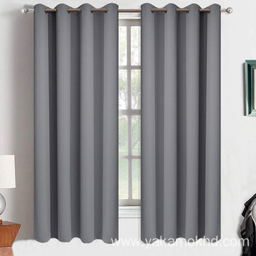 63 Inch Long Grey Blackout Curtains