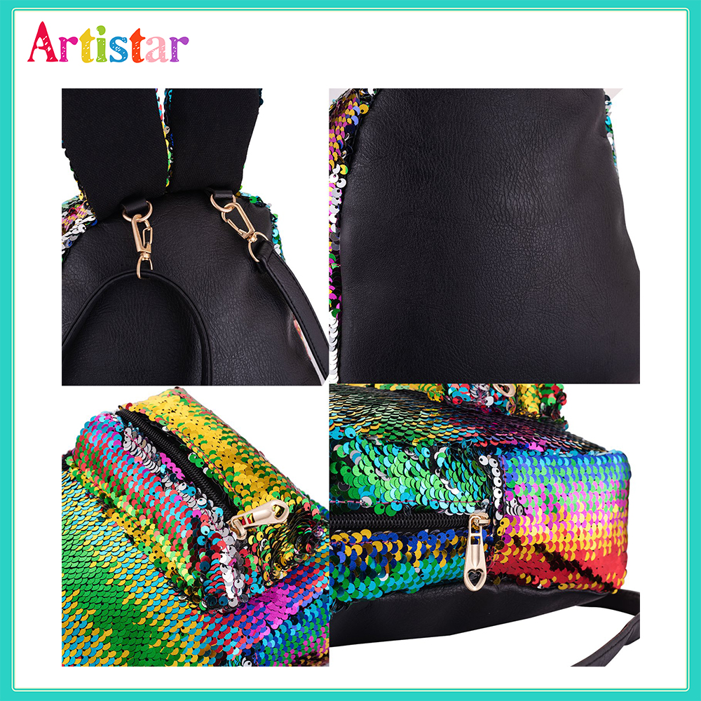 Rabbit Sequin Backpack 12 5