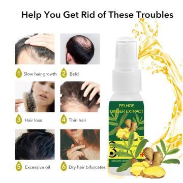 EELHOE Regrow Ginger Fast Hair Growth Serum Essential Oil Nourishing Preventing Hair Lose Repair Grow Hair Conditioner TSLM2