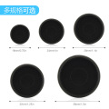 12PCS Black Binding Disc Buckle Ring Buckle For Mushroom Hole Notepad Hand NoteBook Plastic Disc Buckle Mushroom Hole Buckle