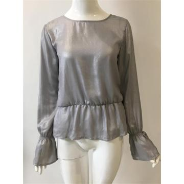 Lady's Silver Pressed Blouse