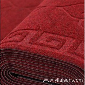Wholesale embossed polyester floor outdoor indoor mat