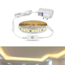 Dimmable 5M LED Strip 220V 110V 2A Power Supply 12V 4040 SMD Touch Sensor Switch For Under Cabinet Wardrobe Kitchen light