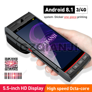 NEW Handheld PDA Android 8.1 Rugged POS Terminal 1D 2D Barcode Scanner Reader WiFi 4G Bluetooth GPS PDA Built-in Printer 58mm