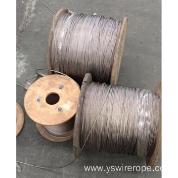 304/316 High Tensile Wire Rope Stainless Steel 7X19
