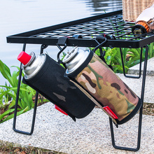 Gas Canister Cover Protector Fuel Canister Storage Bag Camping Hiking Gas Cylinder Tank Accessories Outdoor Tools 6.5x9.9cm
