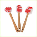 FDA Food Grade Silicone Spatula With Wooden Handle