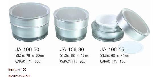 Round Acrylic Plastic Jar With Lid