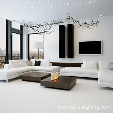 High quality art luxurious decoration clear glass chandelier