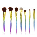 7 PC Mermaid Face and Eye Brush Collection