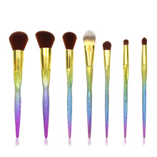 7PC Mermaid Face and Eye Brush Collection