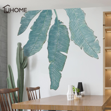 Large Fresh Banana Leaf Green Plant Wall Sticker for Living Room Bedroom Waterproof Wall Decal Home Decoration Mural Art