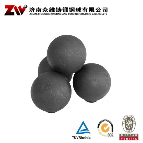 125mm forged steel grinding balls for gold mining