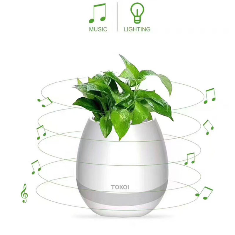 2017-New-Funny-Cool-Gadget-Bluetooth-speaker-music-flower-pot-touch-swift-with-night-light-Music