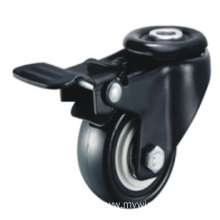 2 Inch Hollow Rivet Swivel PVC Material With Brake Small Caster