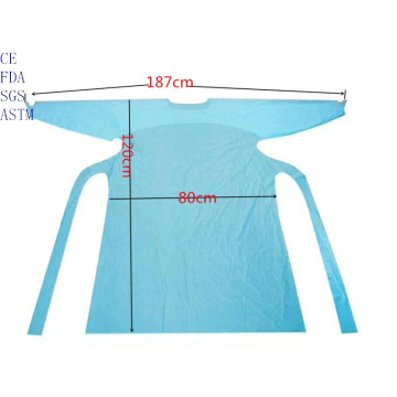 disposable isolation gown with thumb hole FDA AAMI Level3