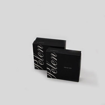 Custom Logo Black 2PCS Coated Paper Box