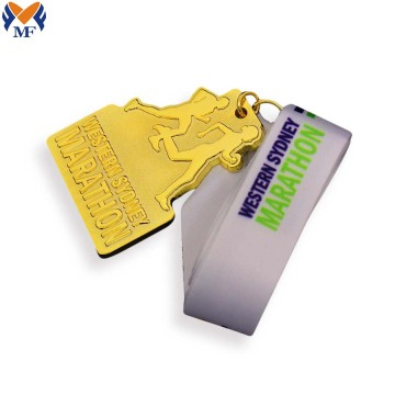 Custom best gold marathon medals