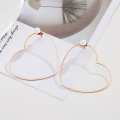 Fashion ladies pearl heart hoop earrings
