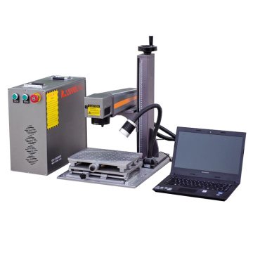 30W portable CNC fiber laser Metal Tag Plate Marking Machine