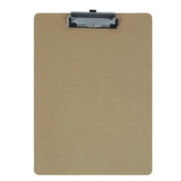 A5 Wood Paper Clip Board