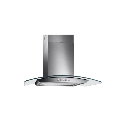 Stainless Steel Tempered Glass Kitchen Range Hood