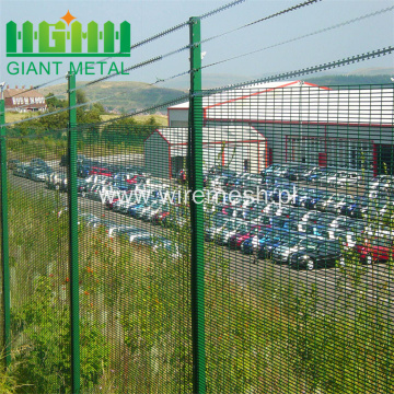 RAL 6005 Green PVC coated 358 Fence Panels