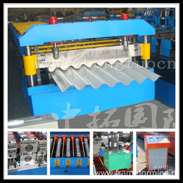Corrugated Steel Sheet Roll Forming Line Roofing Panel Machine
