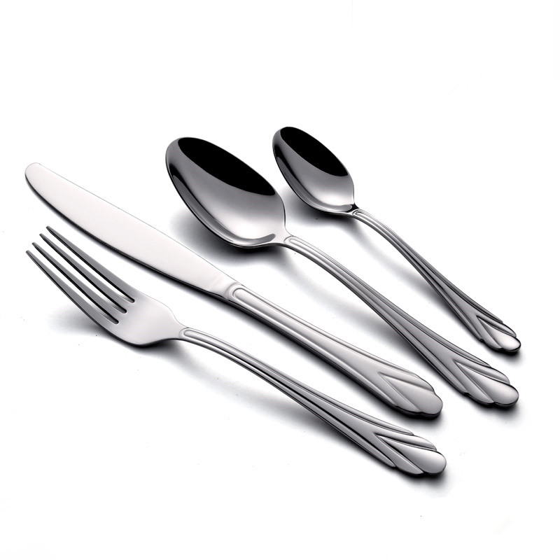 Stainless Steel Flatware With Gold Trim