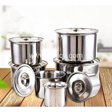 Thickened Stainless Steel Sauce Cylinder With Lid