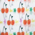 Cotton poplin fabric with cartoon cherry printing