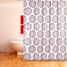 Shower Curtain PEVA Flower Pattern