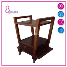 Wood Beauty Salon Hairdressing Trolley Cart
