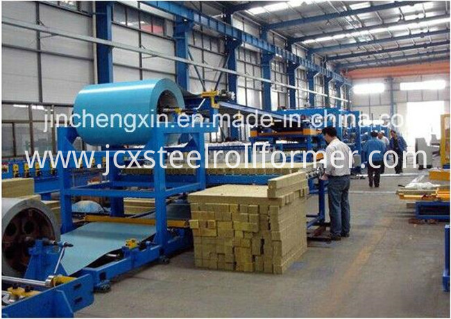 Fireproof Rock Wool EPS Sandwich Panel Making Machine Line