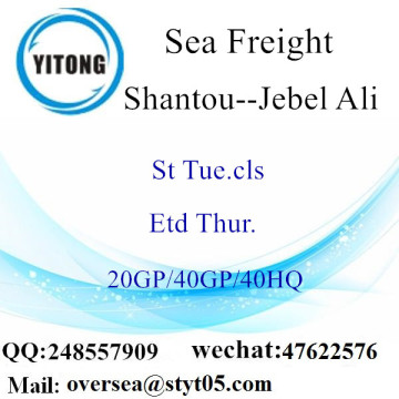 Shantou Port Sea Freight Shipping To Jebel Ali