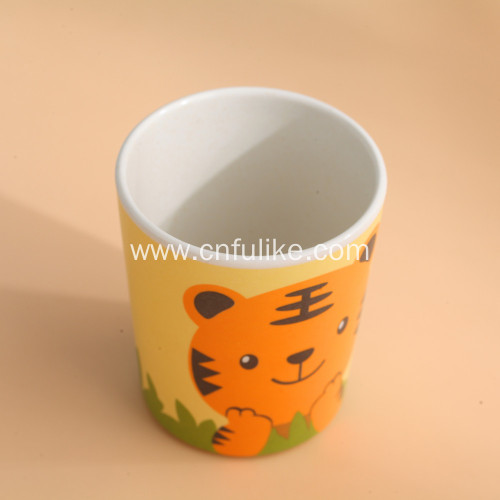 5 Piece Tiger Bamboo Meal Tableware Set