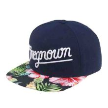 Sublimation Printed Flat Floral Brim Custom Snapback Caps