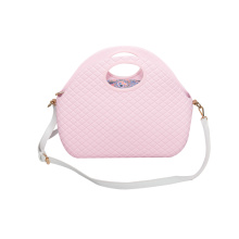pink soft EVA diamond crossbody shoulder beach bags