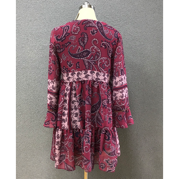 women's chiffon irregular print dress
